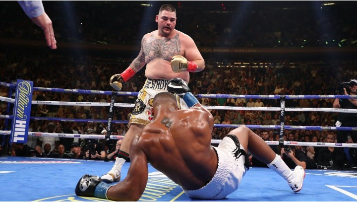 Andy Ruiz apologize for beating Anthony Joshua and ending his unbeaten record.