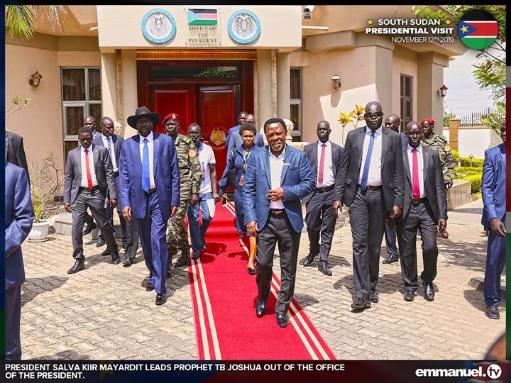 """""""God instructed me to leave South Sudan immediately"""" TB Joshua on why left the country quietly."""
