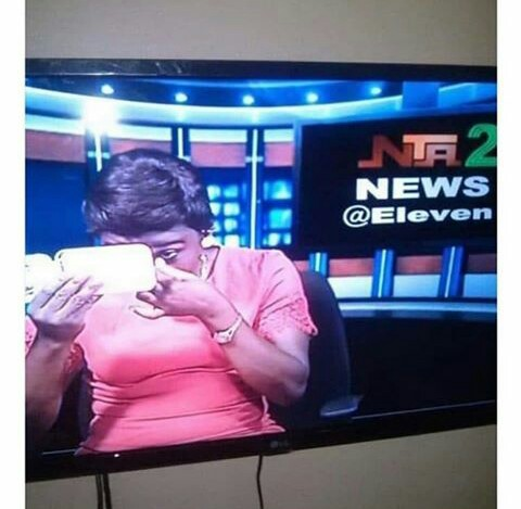 Poor service delivery: NTA staff caught wearing make-up on live TV.