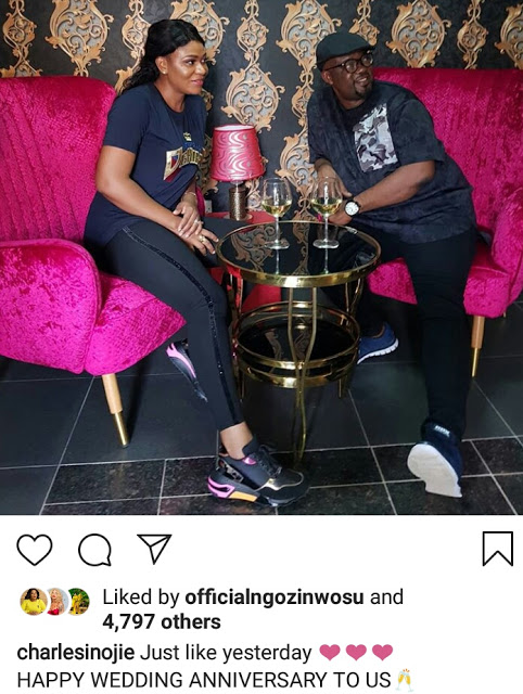Comic actor Charles Inojie And wife Grace Obehi Celebrate 7th Wedding Anniversary