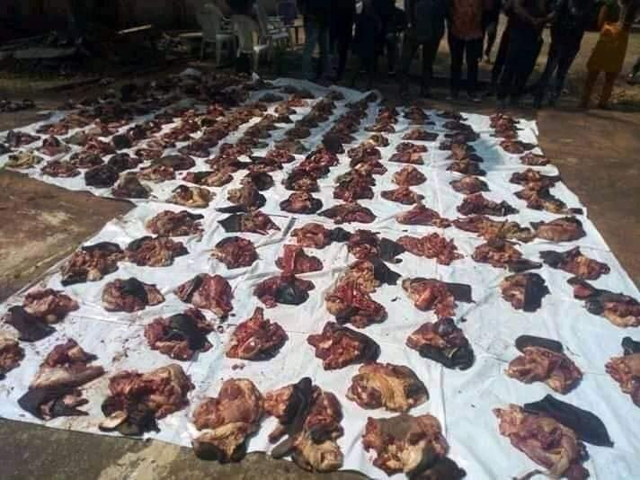 Anambra Lawmaker Blasted For Sharing Meat Among His Constituents.