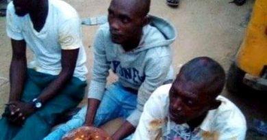 3 Men Carrying Sacrifice Beaten To Pulp In Ikorodu, Forced To Eat It