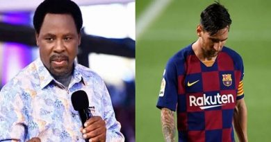 TB Joshua Warns Messi Against Leaving Barcelona